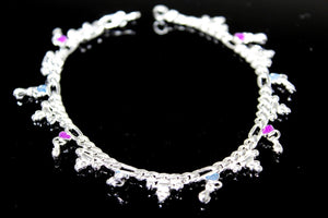 2PC HANDMADE  Solid Silver Payal 925 sbb29 Sterling adult ladies Anklets - Royal Dubai Jewellers
