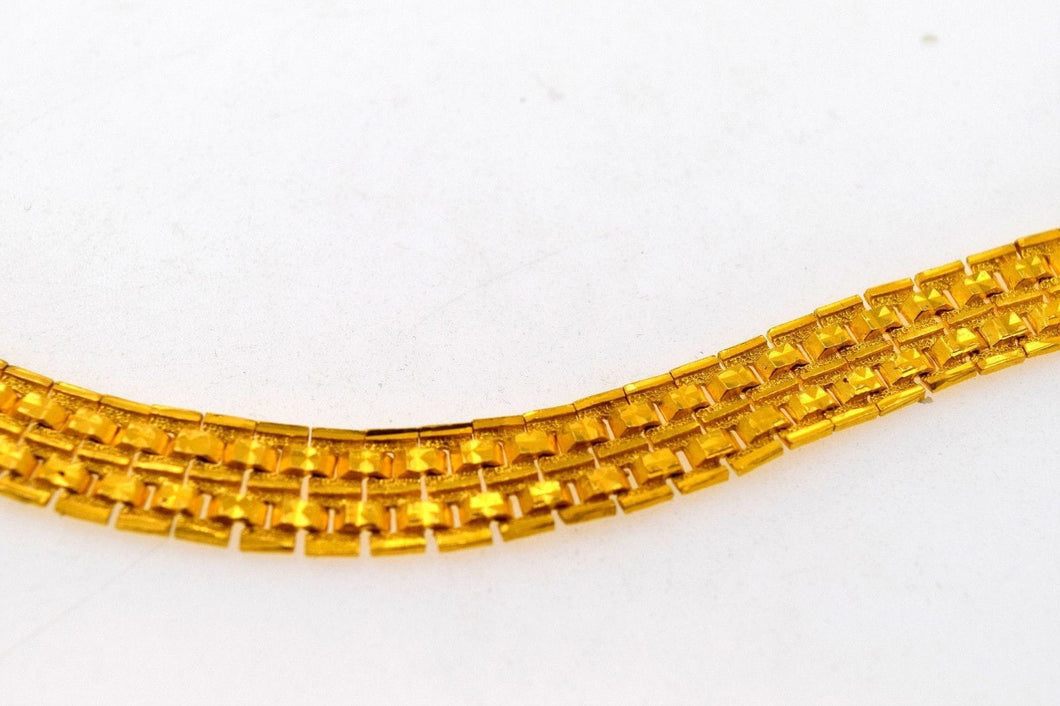 22k 22ct Solid Gold DESIGNER MENS BRACELET LENGHT 8.0in B575 - Royal Dubai Jewellers