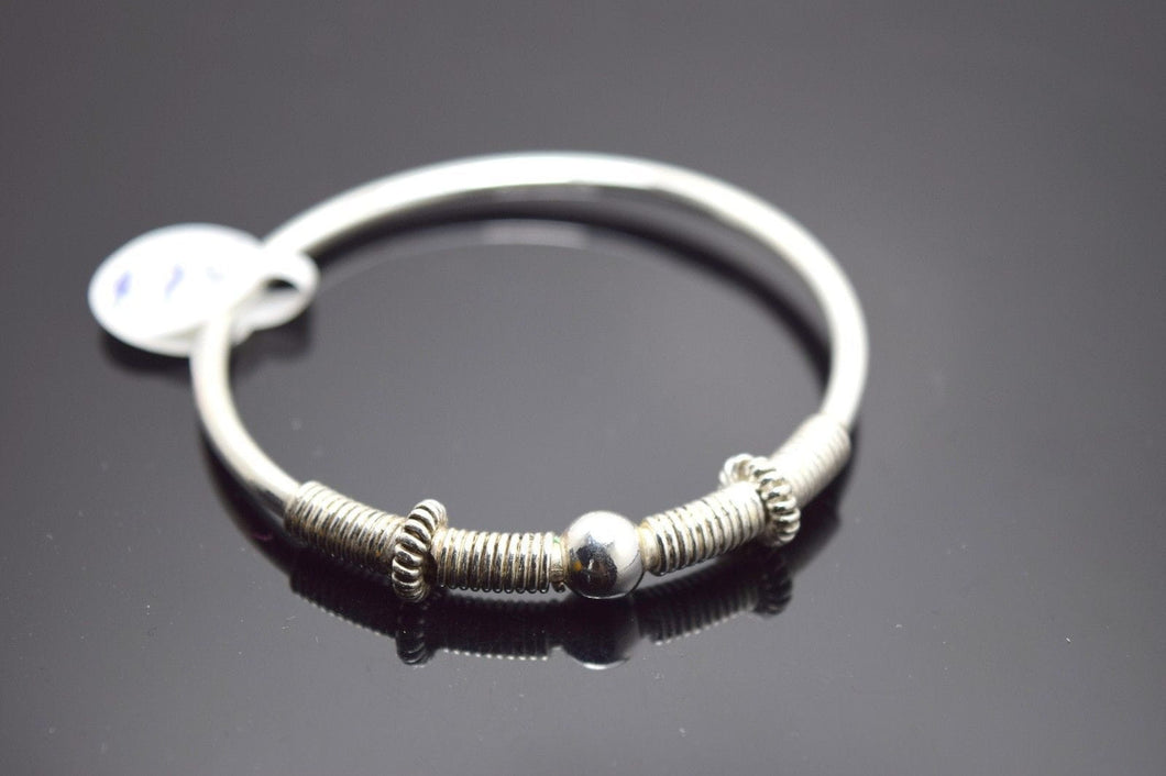 1PC HANDMADE Baby Solid Silver Bracelet 925 sb31 Sterling Children Bangle Cuff - Royal Dubai Jewellers