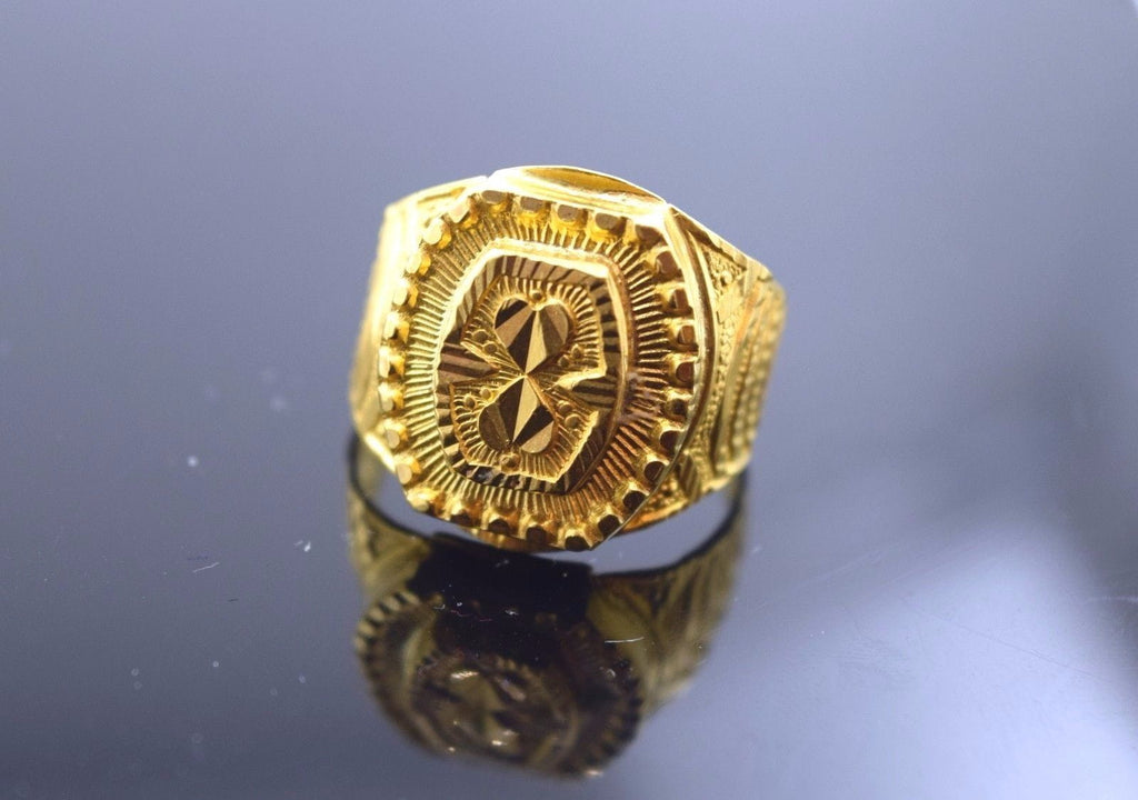 "22k 22ct Solid Gold ELEGANT MENS Ring with box  ""RESIZABLE"" R279 - Royal Dubai Jewellers"