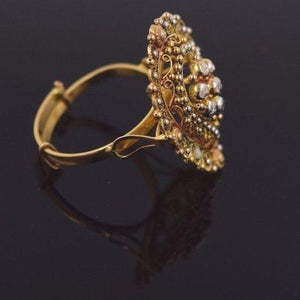 "22k 22ct Solid Gold ELEGANT Ring Band with Box ""RESIZABLE"" R559 - Royal Dubai Jewellers"