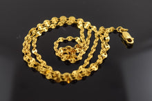 22k 22ct Yellow Solid Gold Chain Necklace 2.2 mm C159 with box - Royal Dubai Jewellers
