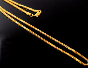 22k 22ct Yellow Solid Gold EXTONIC BRAIDED chain DESIGNS SHINNY NECKLACE  c545 - Royal Dubai Jewellers