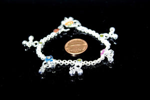 2PC HANDMADE  Solid Silver Payal 925 sbb91 Sterling adult ladies Anklets - Royal Dubai Jewellers