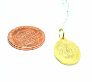 22k 22ct Solid Yellow Gold MUSLIM Allah Pendant charm FREE BOX P0274 - Royal Dubai Jewellers