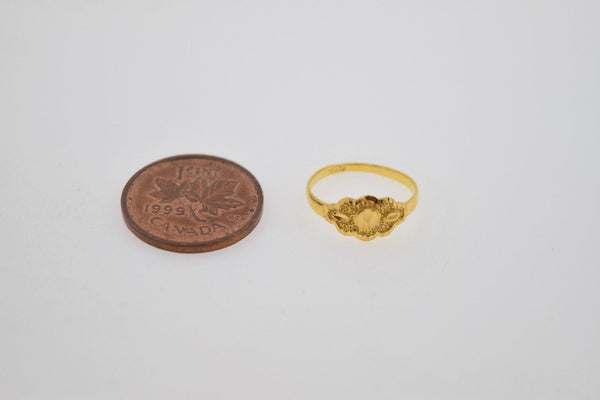 "22k 22ct Solid Gold ELEGANT BABY Ring SMALL SIZE Band with Box ""RESIZABLE"" R534 - Royal Dubai Jewellers"