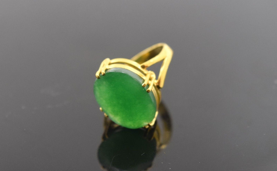 22k 22ct Solid Gold ELEGANT EMERALD Ring BAND with Box