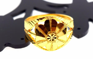 22k 22ct Solid Gold ELEGANT FLOWER RING band with BOX FREE *RESIZING* R543 - Royal Dubai Jewellers