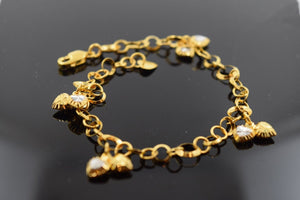 22k 22ct Solid Gold ELEGANT Bracelet with box length 7.5 Inch CB74 - Royal Dubai Jewellers