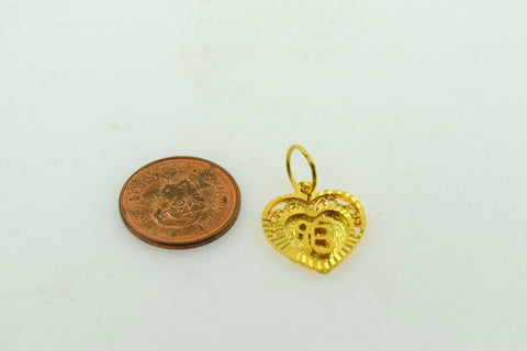 22k 22ct Solid Gold  Sikh Religious pendant charm locket onkar free box mf - Royal Dubai Jewellers