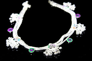 2PC HANDMADE  Solid Silver Payal 925 sbb10 Sterling adult ladies Anklets - Royal Dubai Jewellers