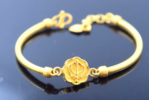 22k 22ct Solid Gold ELEGANT KHANDA BABY KID BRACELET bangle cuff cb299 - Royal Dubai Jewellers