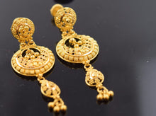 22k 22ct Solid Gold ELEGANT LONG TRADITIONAL EARRING  e1282 - Royal Dubai Jewellers