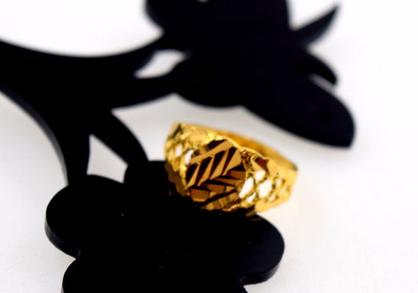 "22k 22ct Solid Gold ELEGANT KIDS BABY RING BAND with BOX ""Resizable"" R567 - Royal Dubai Jewellers"