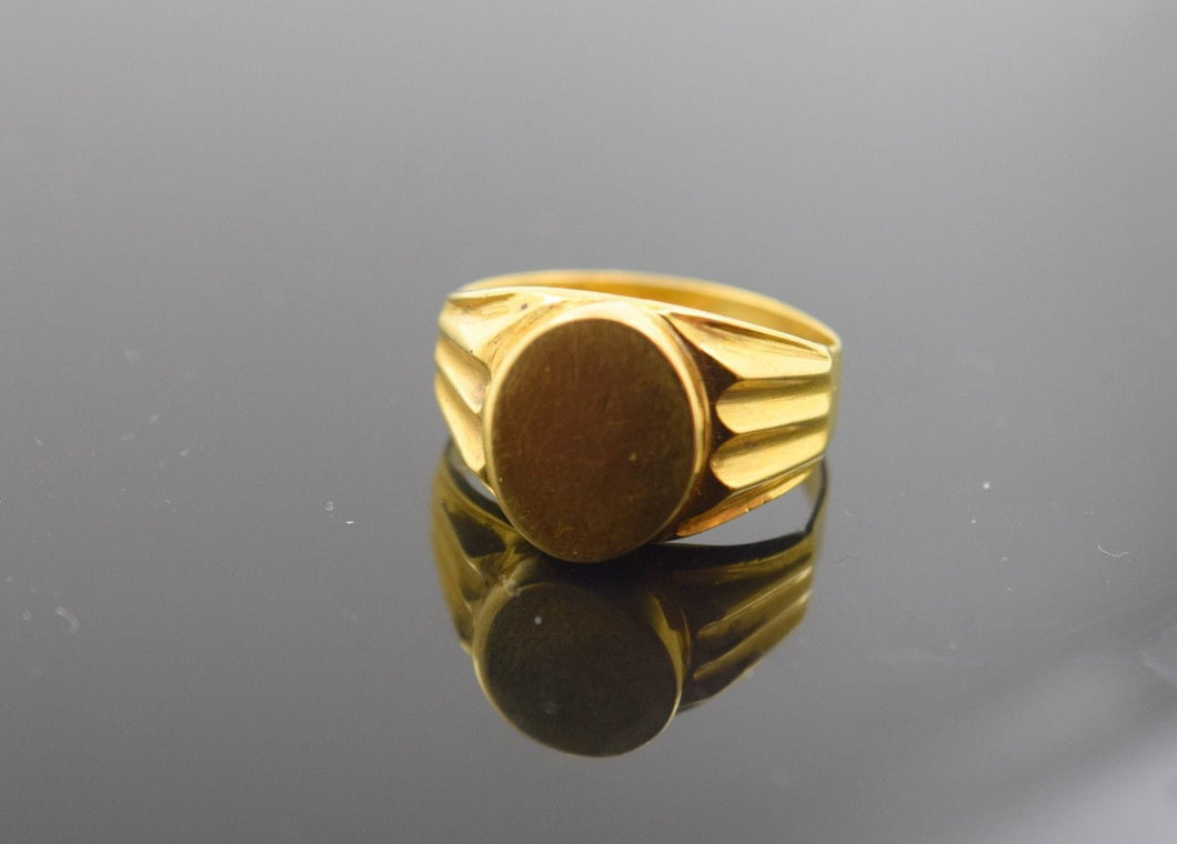 22k 22ct Solid Gold ELEGANT Ring BAND with FREE18k BOX