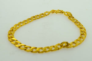22k 22ct Solid Gold ELEGANT Bracelet length 9 Inch with unique BOX  free ship - Royal Dubai Jewellers