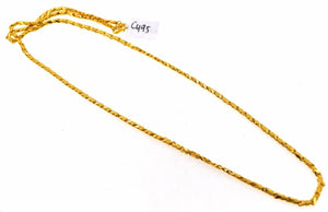 "22k Yellow Solid GOLD EXQUISITE HEART SHAPE LINK Chain Necklace LENGHT 22"" c495 - Royal Dubai Jewellers"