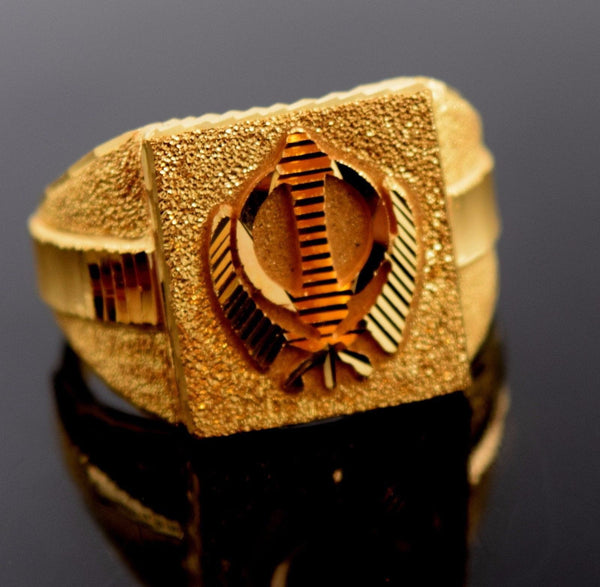 22k 22ct Solid Gold ELEGANT MENS RING band with BOX FREE *RESIZING* R551 - Royal Dubai Jewellers