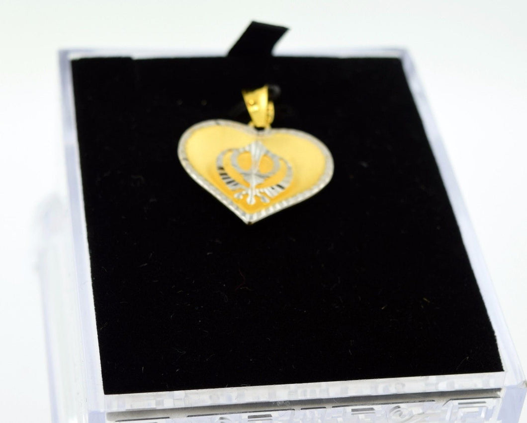 22k 22ct Solid Gold  Sikh Religious pendant charm locket p240 - Royal Dubai Jewellers
