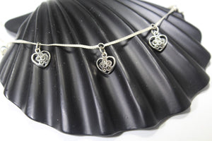 1PC HANDMADE  Solid Silver Payal 925 sbb128 Sterling adult ladies Anklets - Royal Dubai Jewellers