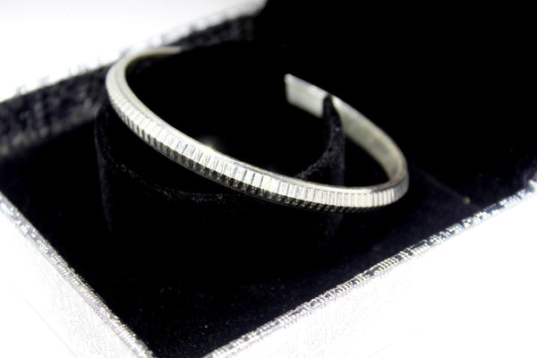 1PC HANDMADE women b104 Solid Sterling Silver 925 size 2.5 inch kara Bangle