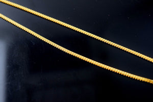 22k 22ct Solid Gold SIMPLE DAILY WEAR PLAIN SMOOTH LONG CHAIN LENGHT:18 c532 - Royal Dubai Jewellers