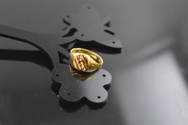 "22k 22ct Solid Gold ELEGANT KIDS BABY RING BAND with BOX ""Resizable"" R568 - Royal Dubai Jewellers"