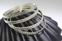 4PC HANDMADE women b126 Solid Sterling Silver 925 size 2.25 inch kara Bangle - Royal Dubai Jewellers