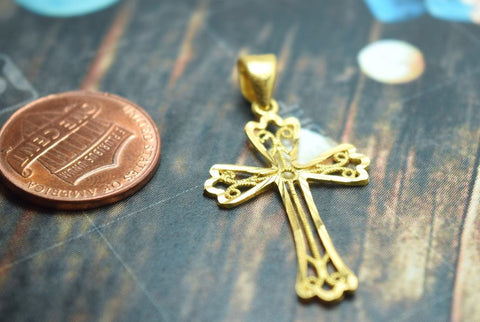 Artistic sleek christian pendants dubaijewellers sold out 22k 22ct solid gold christian cross jesus pendant charm with free box p209 aloadofball Images