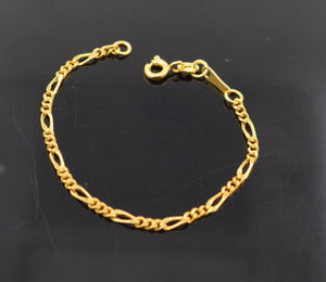 22k 22ct Solid Gold ELEGANT BABY KID BRACELET bangle cuff cb340 - Royal Dubai Jewellers