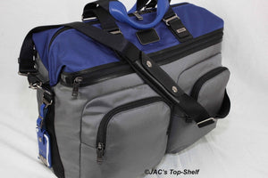 Tumi New Alpha Bravo Hanscom Duffel Bag Gray/Blue - Royal Dubai Jewellers