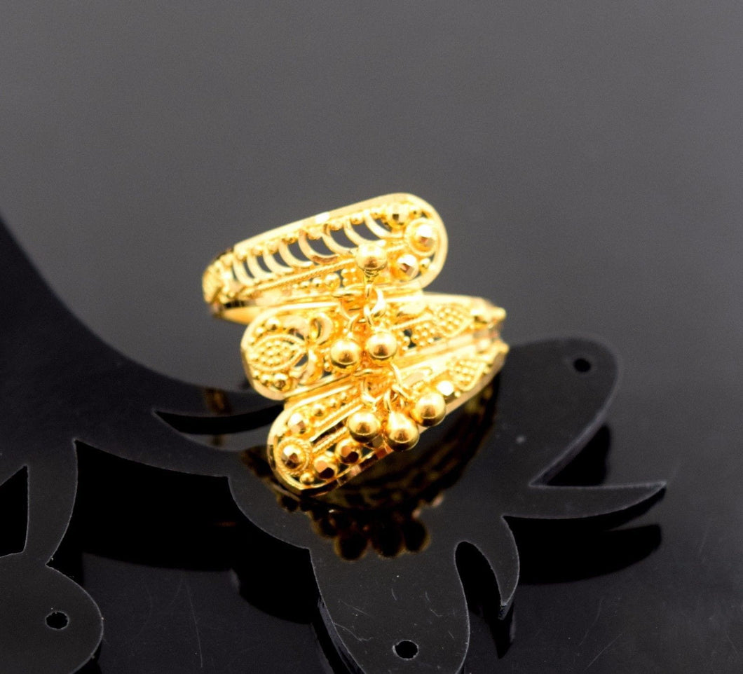 22k 22ct Solid Gold ELEGANT RING band with BOX FREE *RESIZING* R541 - Royal Dubai Jewellers