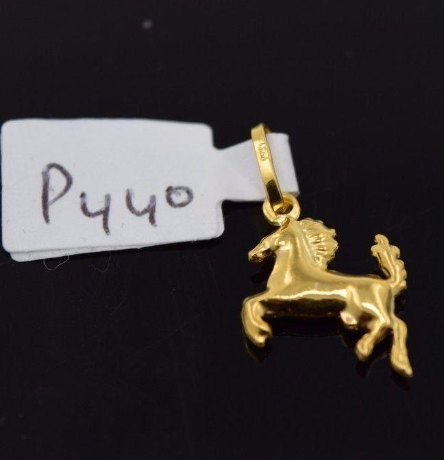 22k 22Ct Solid Gold ELEGANT HORSE PONY STALLION Pendent P440 with unique box - Royal Dubai Jewellers