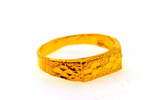"22k 22ct Solid Gold ELEGANT KIDS BABY RING BAND with BOX ""Resizable"" R566 - Royal Dubai Jewellers"