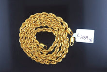 "22k 22ct Yellow Solid Gold ROPE Chain 20 inch""C339 with box - Royal Dubai Jewellers"