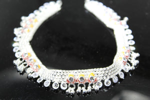 2PC HANDMADE  Solid Silver Payal 925 sbb2 Sterling adult ladies Anklets - Royal Dubai Jewellers