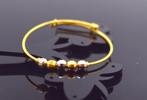 "22k 22ct Solid Gold ELEGANT BABY CHILDREN BANGLE BRACELET""ADJUSTABLE"" CB325 - Royal Dubai Jewellers"