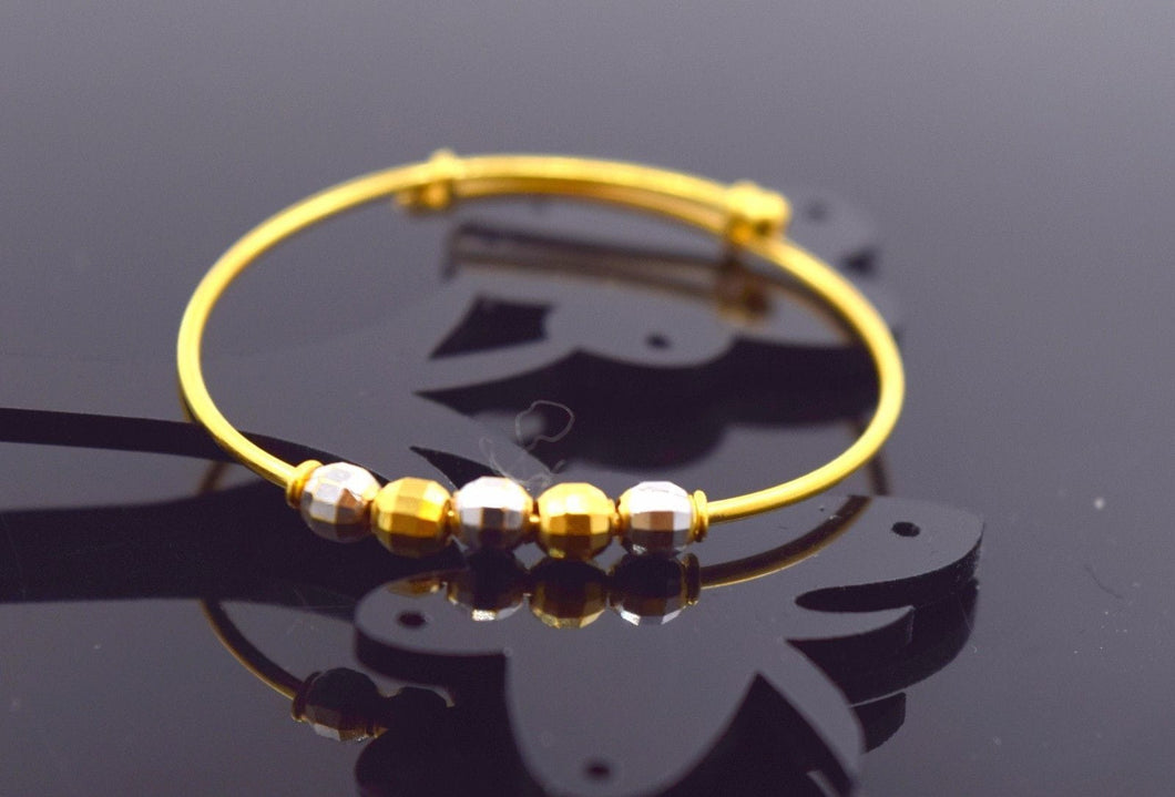 22k 22ct Solid Gold ELEGANT BABY CHILDREN BANGLE BRACELET