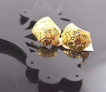 22k 22ct Solid Gold ELEGANT SMALL Earrings CLIP-ON with BOX E1007 - Royal Dubai Jewellers