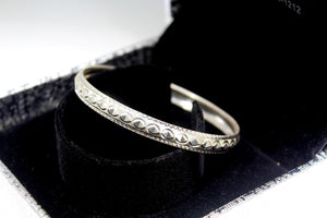 1PC HANDMADE women b105 Solid Sterling Silver 925 size 2.25 inch kara Bangle - Royal Dubai Jewellers