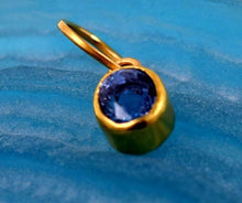 "22k 22ct Solid Gold ELEGANT NATURAL BLUE SAPPHIRE STONE ROUND 4""CT pendant p594 - Royal Dubai Jewellers"