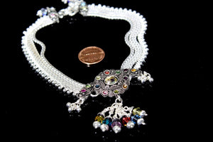 2PC HANDMADE  Solid Silver Payal 925 sbb65 Sterling adult ladies Anklets - Royal Dubai Jewellers
