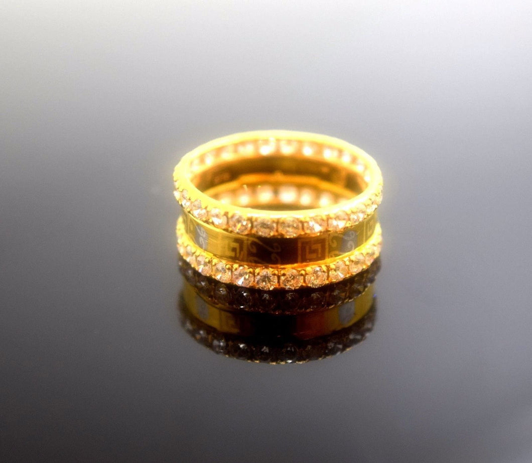 22k 22ct Solid Gold Elegant STONE BAND Ring size 6.5