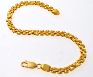 22k 22ct Solid Gold TRADITIONAL DESIGN MENS BRACELET LENGHT 8.3in B581 - Royal Dubai Jewellers