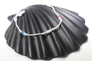 2PC HANDMADE  Solid Silver Payal 925 sbb104 Sterling adult ladies Anklets - Royal Dubai Jewellers