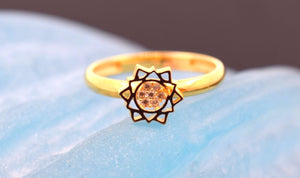 "22k 22ct Solid Gold CUTE STAR ELEGANT BABY KID Ring ""RESIZABLE"" size 4.2 r741 - Royal Dubai Jewellers"