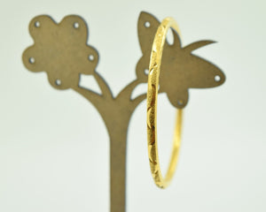 """CHOOSE YOUR SIZE"" 22k 22ct Solid Gold 3.1mm BABY BANGLE BRACELET Children w Box - Royal Dubai Jewellers"