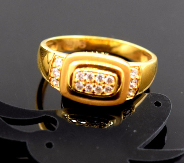 22k 22ct Solid Gold ELEGANT MENS STONE RING band with BOX FREE *RESIZING* R539 - Royal Dubai Jewellers