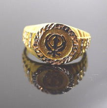 "22k 22ct Solid Gold ELEGANT KHANDA MENS Ring BAND with box  ""RESIZABLE"" R288 - Royal Dubai Jewellers"