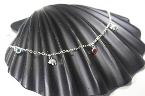1PC HANDMADE  Solid Silver Payal 925 sbb126 Sterling adult ladies Anklets
